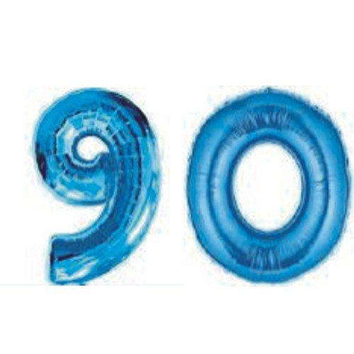 Grabo Giant 90th Blue Number Balloons
