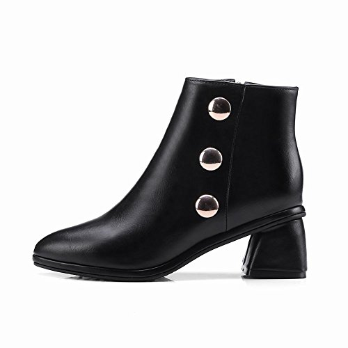 Chunky Latasa Black Pointed Latasa toe Boots Womens Ankle Heel Womens BXROw