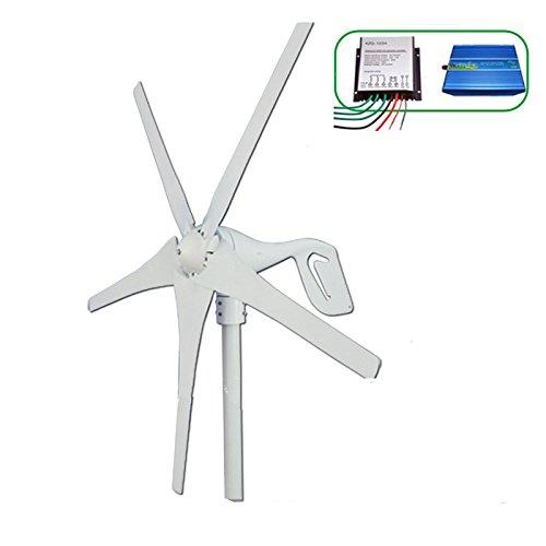 GOWE Wind turbine generator 600w max , horizontal wind generator 12V/24V windmill, come with wind controller+600w off grid inverter.