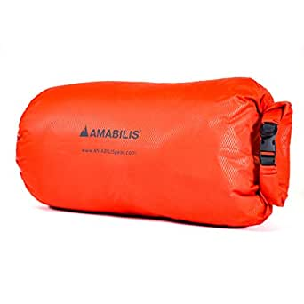 "Amabilis Waterproof Dry Bag Liner and Dry Sack Deisgned to Fit The Dave Jr, Duffel Bag 25L - 26"" x 10"", Tango Orange"