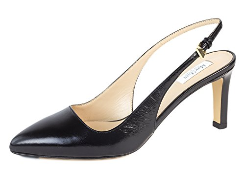 MaxMara Women's Ceylon Leather Slingback Pumps US 7/IT 37 Black by MaxMara (Image #3)