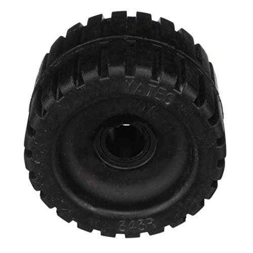 (Seachoice 56330 Molded Ribbed Wobble Roller - Black Rubber - 3 Inches Wide - 7/8 Inch ID Hole)