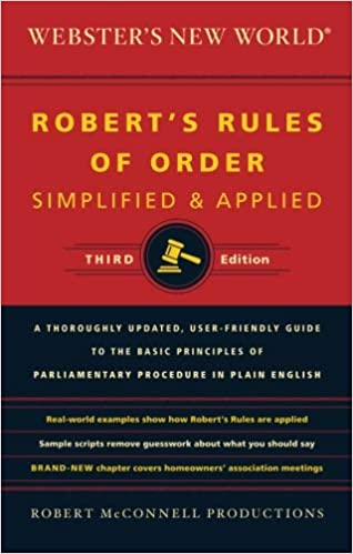 Websters new world roberts rules of order simplified and applied websters new world roberts rules of order simplified and applied third edition updated edition fandeluxe Image collections