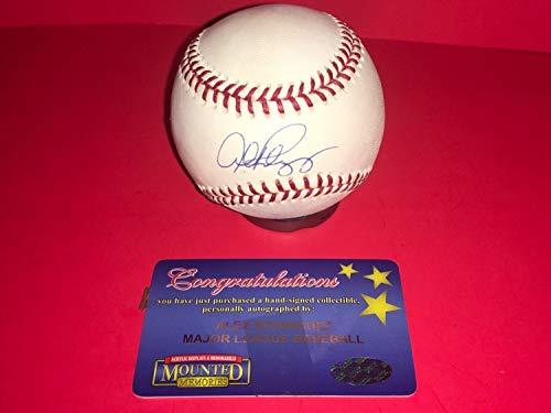 Alex Rodriguez Autographed Signed Official MLB Baseball Mounted Memories Coa - Authentic Memorabilia