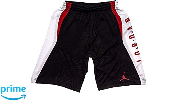 5a7721b4f762 Amazon.com  NIKE Jordan Boy s Knit Takeover Shorts Gym Red Black (Small)   Clothing