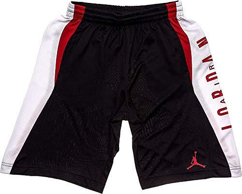 NIKE Jordan Boys' Dri-Fit Takeover Basketball Shorts, Black/White/Red (5)