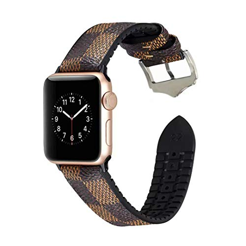 - Apple Watch Band 42mm 44mm Genuine Leather Band for Women Sweatproof iWatch Strap Replacement Bands for Apple Watch iWatch Series 4 Series 3 Series 2 Series 1 (Plaid)