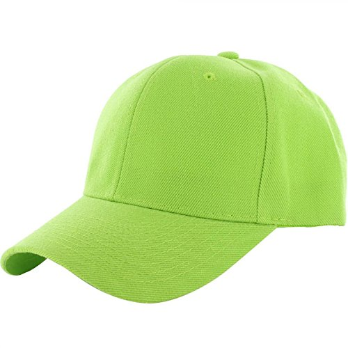 Lime-100% Acrylic Plain Baseball Cap Baseball Golf Fishing Cap Hat Men Women Adjustable Velcro (US - Gap Belted Belt