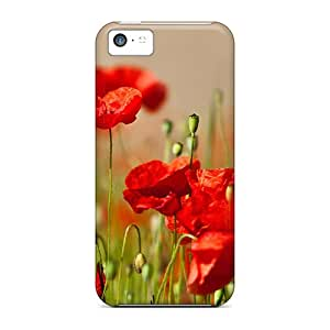 New Customized Design Cute Flower Field For Iphone 5c Cases Comfortable For Lovers And Friends For Christmas Gifts