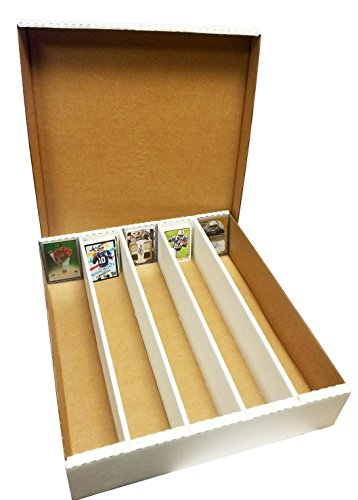 (1) SUPER Monster 5-Row Storage Box Holds 5,000 trading cards by MAX PRO 5000ct HALF LID - For Baseball, Football, Hockey, Soccer Cards