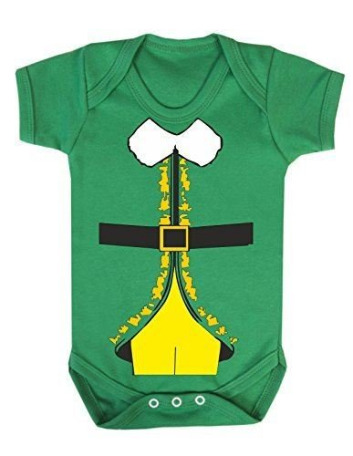 Bullshirt's Elf Buddy Costume Babygrow (12-18 Months, Irish Green)
