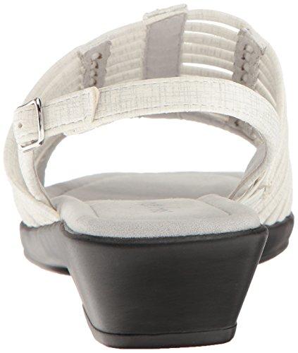 Allure Street Huarache Sandal Women White Easy Metallic Print 8ET6Axx
