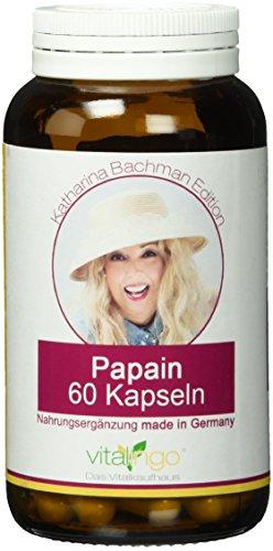 Katharina Bachman Papain Enzym - 60 Kapseln à 500 mg (400mg Papain und 100mg Kapselhülle aus Methylcellulose)