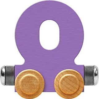 product image for Maple Landmark NameTrain Pastel Letter Car O - Made in USA (Lavender)