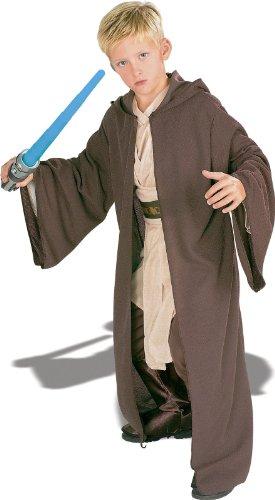 Rubies Star Wars Deluxe Hooded Jedi Robe, Medium