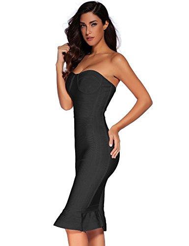 maniche Black Q Vestito Donna Shownice Senza a8qEwqx