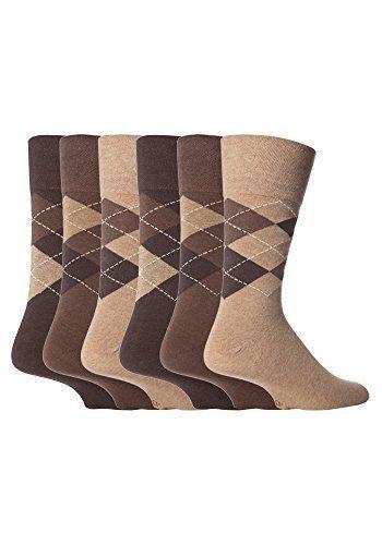 6 pares hombres suave grip sin calcetines elásticos 39,5 - 44,5,