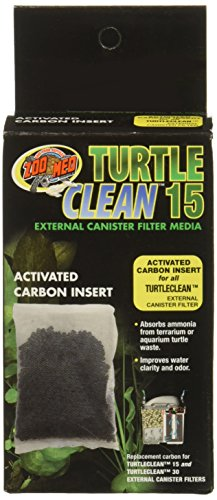(3 Pack) Zoo Med Turtle Clean 15 Activated Carbon Inserts by Zoo Med