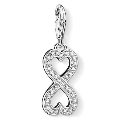 Thomas Sabo Women-Charm Pendant Eternity Charm Club 925 Sterling Silver Zirconia white 1306-051-14 cB9uo