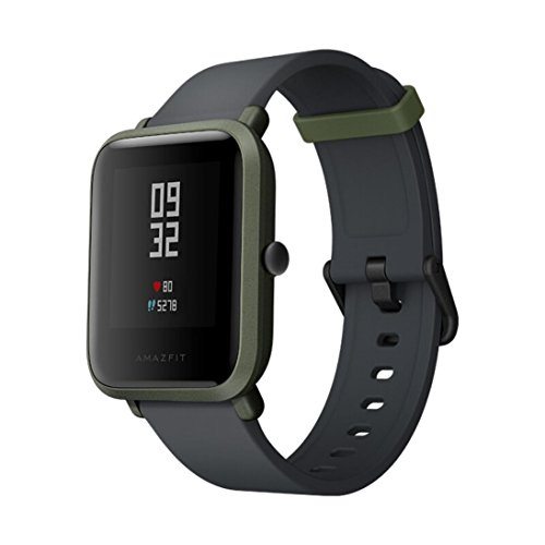 Libison Bluetooth Smart Watch - 1.28 Inch Screen Xiaomi Mi Amazfit Bip Watch Huami Smart Bluetooth band with Heart Rate Monitor (Green)