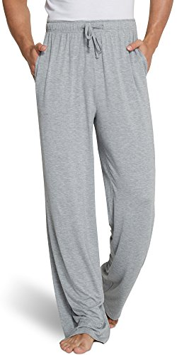 Bamboo Clothing - GYS Men's Extra Long Bamboo Sleep Pants, Heather Grey, XX Large