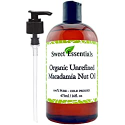 Organic Extra Virgin Macadamia Nut Oil, 16 oz