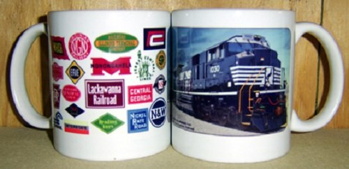 COFFEE MUG - NORFOLK SOUTHERN RAILROAD HERITAGE LOGO (Logo Railroad)