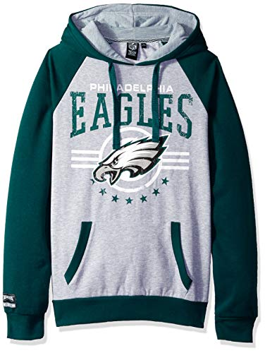 ICER Brands NFL Philadelphia Eagles Men's Fleece Hoodie Pullover Sweatshirt University, X-Large, Green