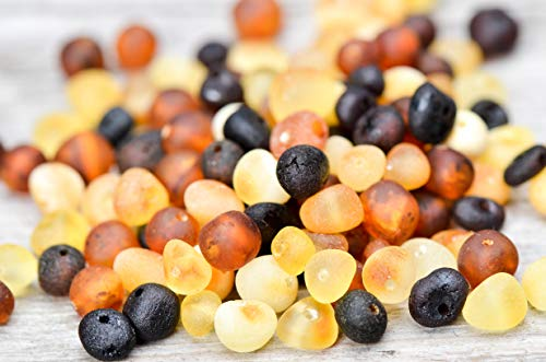 50 Pcs Loose Raw Baltic Amber Beads 4-6mm