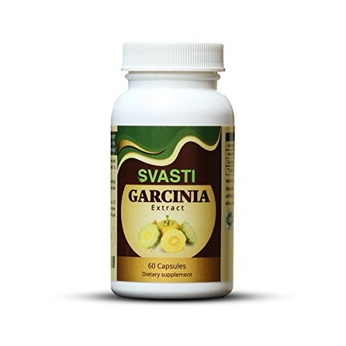 SVASTI Nutrition Pure Garcinia Cambogia Extract Weight Loss HCA Supplement, 60 Capsules - 100% Pure Natural Fat Burner Diet Detox Weight Loss Pills for Men & Women