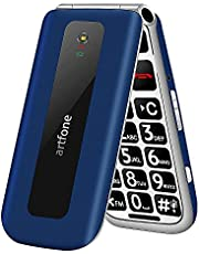 """artfone Big Button Mobile Phone for Elderly, Senior Flip Phones Sim Free Unlocked Easy to Use Basic Cell Phones with 2.4"""" LCD Display   SOS Button   Talking Numbers   FM Radio   Torch  1000mAh Battery"""