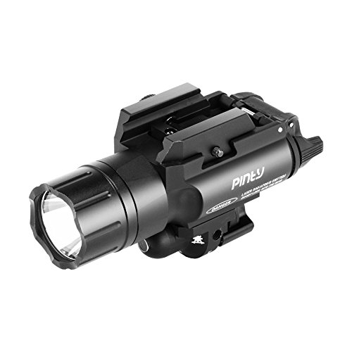 - Pinty Solid Built-in Red Laser Sight TIR Lens 4 Modes LED Flashlights Combo 420 Lumens with Manual Switch
