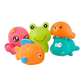 Cute Baby Bath Toys For Children Float Bathing Toy Mini Rubber Shower Toys Muiti-color High Quality Baby Bath Toys Toys & Hobbies Bath Toy