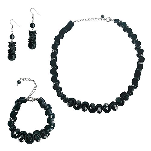 [Twinkle Metal Deluxe Bijouterie Set - Princess Slate Stones Jewelry (Necklace - Earrings -] (Homemade Elephant Costume Ears)