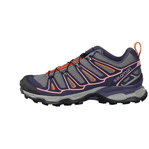 Salomon X Ultra 2 - Zapatos de Low Rise Senderismo Mujer Gris (Quiet Shade/Ombre Blue/Blush)