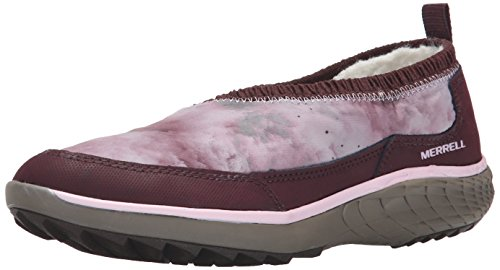 Merrell Womens Pechora Wrap Slip-On Shoe Burgundy