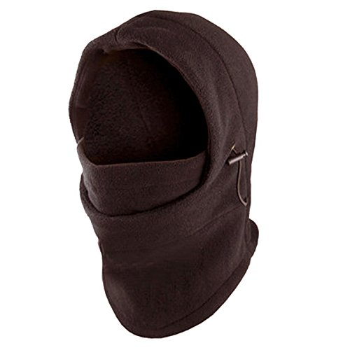 Coffee-Deluxe Adjustable POLAR FLEECE BALACLAVA Winter Hood Ski FACE MASK(US Seller)