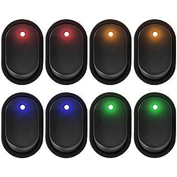 10 X Red LED Light 12V 30Amp 30A Car Boat Auto Rocker SPST Toggle Switch WYS