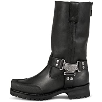 Size 9 Milwaukee Motorcycle Clothing Company Mens Drag Harness Motorcycle Boots