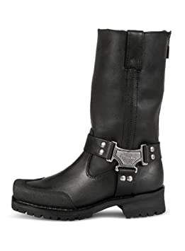 Size 11.5 Milwaukee Motorcycle Clothing Company Mens Drag Harness Motorcycle Boots