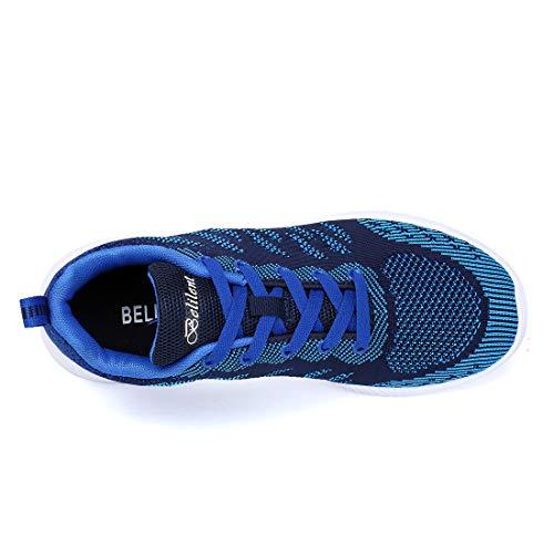 Dark Sneakers Walking eyeones Sports Casual Shoes Men's Lightweight Women's Blue Outdoor Athletic Uqq76vg