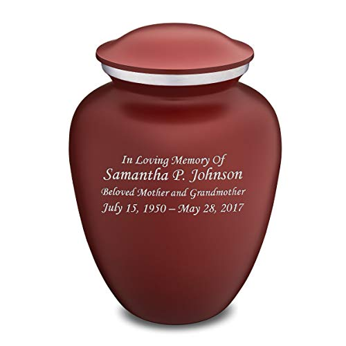GetUrns Custom Engraved Embrace Adult Cremation Urn for Ashes Red