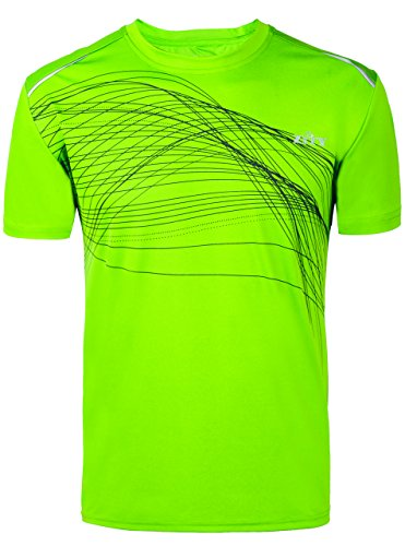 Men Sport Shirt Dry Fit Athletic Tee / Athletic Print Short-Sleeve T-Shirt Fruit Green XL (3d Green T-shirt)