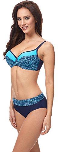 Merry Style Bikini Conjunto para Mujer MSVR726 Nevy Azul/Azul
