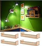 Ikea 4 Wooden Spice Rack Nursery Book Holder Kids Shelf Kitchen Bathroom Accessory Storage Organizer Birch Natural Wood Bekvam, Garden, Lawn, Maintenance