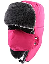 Unisex Winter Trooper Trapper Hat Hunting Hat Ushanka Ear Flap Chin Strap and Windproof Mask