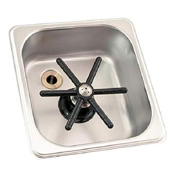 Krome Dispense C335 Flush-Mount Frothing Pitcher Rinser//Glass Rinser Inner Size 6 x 5.5 x 2.5