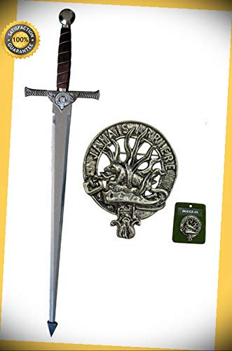(42'' Macleod Sword with Wall Plaque - DOUGLAS perfect for cosplay outdoor camping )