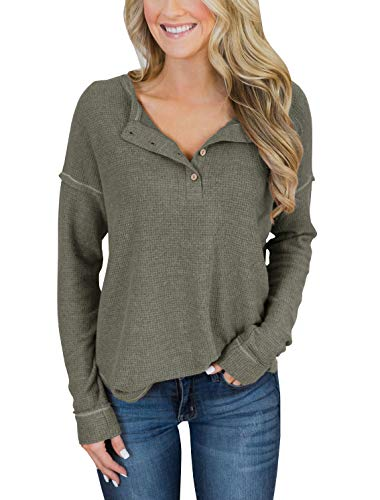 Button Loose Tunic Tops T Shirt Blouses Top Sherpa Casual Oversized Sweatshirt