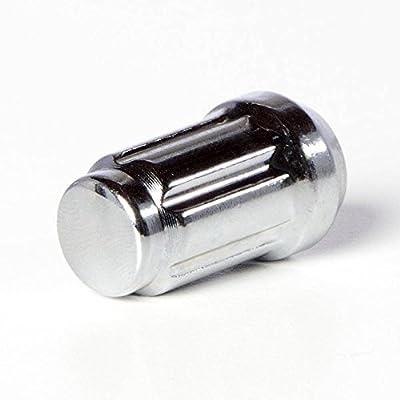 Circuit Performance Spline Drive Tuner Acorn Lug Nuts Chrome 12x1.5 Forged Steel (20pc + Tool): Automotive